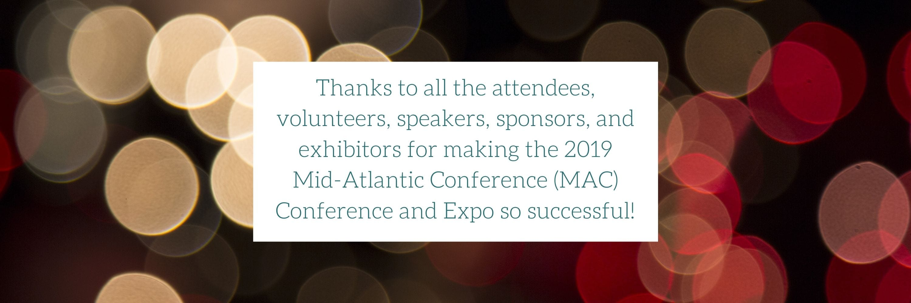 Thanks You 2019 MAC Conference